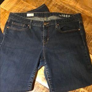 Gap Always Skinny 1969 dark wash jeans